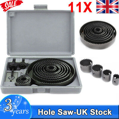 NEW 16pc HOLESAW KIT HOLE CUTTER SET PLUMBERS KITCHENS FITTERS FOR CUTTING WOO