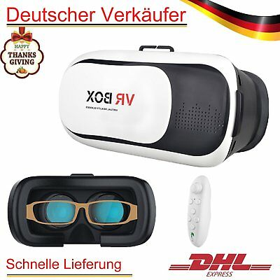 VR Brille 3D Virtual Reality Box Glasses Headset +Bluetooth Gamepad Controller
