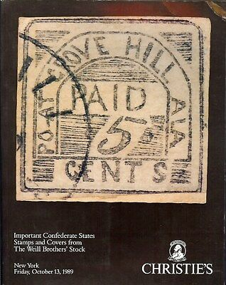 Auction Catalogue – Important Confederate States Of America Stamps/covers