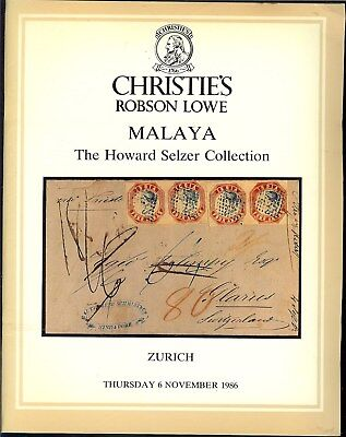 """Auction Catalogue – The """"Howard Selzer"""" Malaya Collection"""