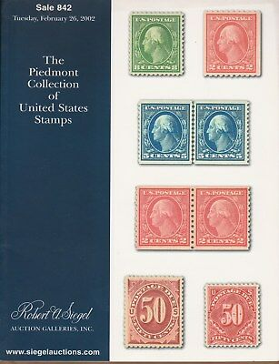 Auction Catalogue – The Piedmont Collection Of United States