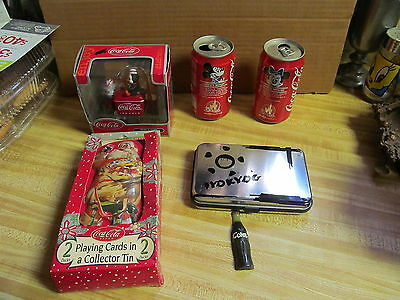 6 Fabulous Vintage Collectable Coca-Cola/Coke Items - Mickey & Minnie Cans +++