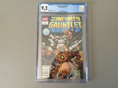 Infinity Gauntlet 1--CGC 9.2--The issue that started it all!