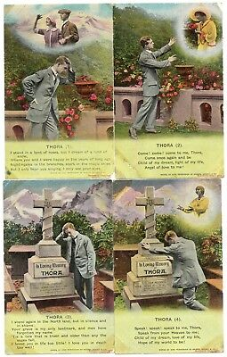 Bamforth Song Card *thora * Wwi Romance * Set Of 4* 4779* A64