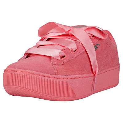 56e43410ad81 PUMA VIKKY PLATFORM Ribbon S Womens Dark Pink Suede Trainers ...