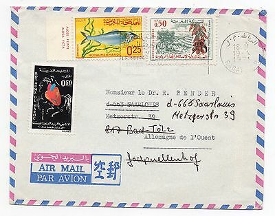 1971 MOROCCO Air Mail Cover RABAT To SAARLOUIS GERMANY Gutter SLOGAN