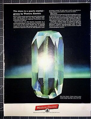 Life Magazine Ad WESTERN ELECTRIC Unit of Bell System Quartz Crystal
