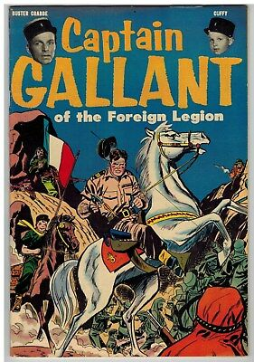 Captain Gallant Of The Foreign Legion Scarce Golden Age 1955 Nice!