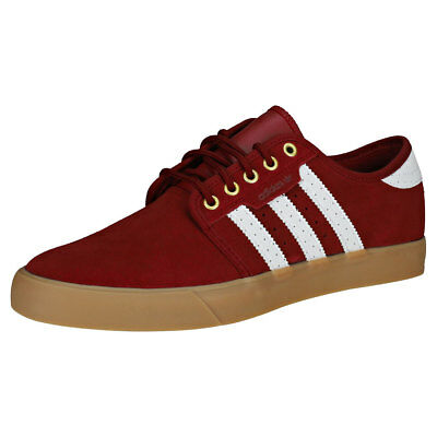 newest 90519 ffd74 adidas Seeley Hommes Burgundy White Suede et Synthetique Baskets