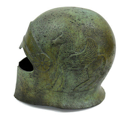 Cretan Ancient Greek 100% Bronze Helmet Museum Replica Reproduction
