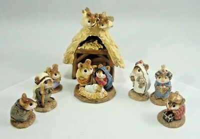WEE FOREST FOLKS Nativity Scene 8 Pieces