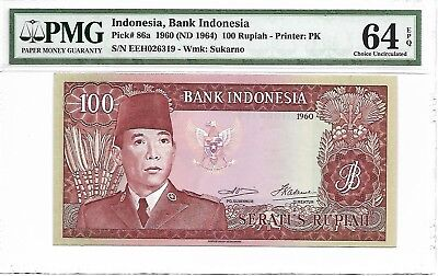 Indonesia, Bank Indonesia - 100 Rupiah, 1960 (ND 1964). PMG 64EPQ.