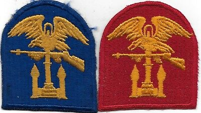 """R/orig Wwii/kw (2) """"combined Ops, 1) Blue Wwii, & 1) Kw Army """" Patches - F/emb"""