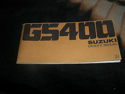 Owners Service Repair  Manual  1976 Suzuki Gs400 Gs 400