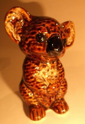 Koala Bear Ceramic Moneybox By Fosters Pottery- Original Label Attached.