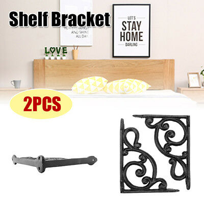 2PCS Rustic industrial Antique Cast Iron shelf wall Bracket Support book Sink