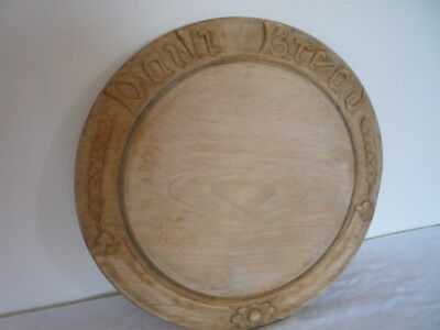 Old Carved Wooden Bread Board Daily Bread English Kitchenalia