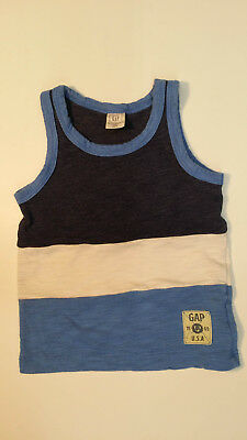 Baby GAP Boys Tank Top, 12-18 months, Blue, White and Navy