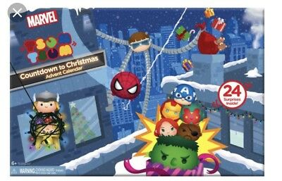 Disney Marvel Tsum Tsum Advent Calendar Countdown 2017 BNIB 25 Pcs!