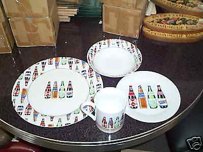 "Coca Cola "" Flavor Blast"" 16 Pc Dish Set Stone Ware Service For 4"
