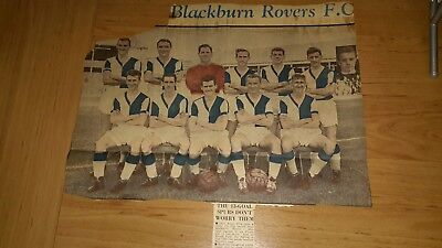 Blackburn Rovers - 2 Colour Newspaper Team Pictures From 1959 & 1960