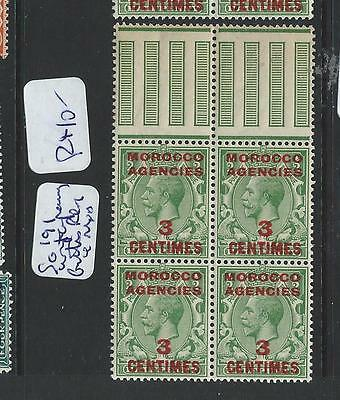 Morocco Agencies (B1001B)  Kgv 3C/1/2D  Sg 191 Top Gutter Marg Bl Of 4 Mnh
