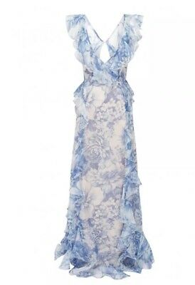 d08ca879b6 NEW Alice McCall Oh My Goodness Dress Size 8 US 12 AUS Blue Floral Cloud