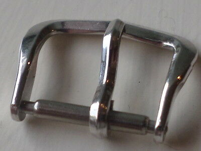 WHITE GOLD  FILLED VINTAGE 10Kt 1950/ 60s  13MM  WATCH BUCKLE MINT NOS