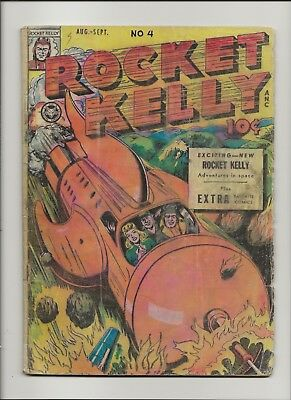 Rocket Kelly 4 Good 2.0 Pre-Code Sci-Fi Fox Feature Syndicate 1946