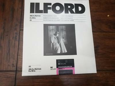 ILFORD Unopened pack 25 8x10 Photographic Paper Multigrade III RC Deluxe