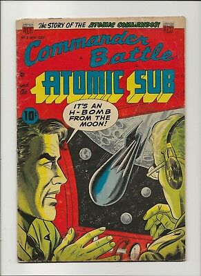 Commander Battle and the Atomic Sub 3 VG 4.0 ACG Pre-Code Sci-Fi