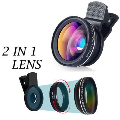 Macro & Wide Angle Camera Lens  for iPhone XS 8 Samsung Galaxy S8 S9 Huawei