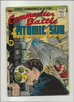 Commander Battle and the Atomic Sub 6 Fine- 5.5 ACG Golden Age Sci-Fi 1955
