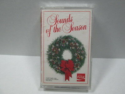 VINTAGE  Coca~Cola Wave 1987 SOUNDS OF THE SEASON CASSETTE TAPE