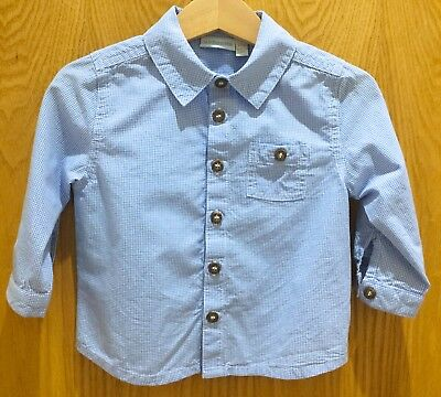 JoJo Maman Bebe checked cotton shirt size 6-12 months NEVER WORN
