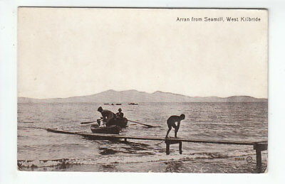 Men In Rowing Boats Small Pier West Kilbride Ayrshire 1911 Angus Grosvenor House