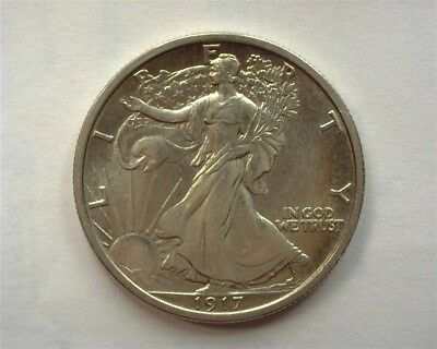 1917 Walking Liberty Silver 50 Cents  Gem Uncirculated Rare This Nice!