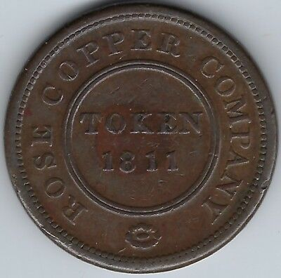 GREAT BRITAIN Birmingham Rose Copper Co 1811 Penny Token Withers 244 Inv 3766