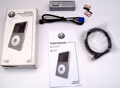 Alfa Romeo 147 Mito Genuine New Ipod Cable Connection Kit & Manual 50903266