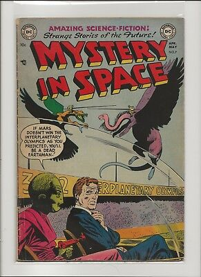 Mystery In Space 7 VG+ 4.5 Knights of the Galaxy Pre Code DC Sci-Fi 1952