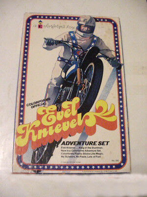 Vintage Original 1974 Colorforms Evel Knievel Adventure Set
