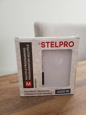 StelPro STE402PWB+ 4000W Multiple Programming Thermostat, White