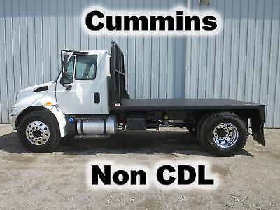 4300 Cummins Automatic Flat Bed Body Tow Trailer Haul Truck Non-Cdl 17-K Miles