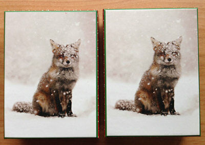 Red Fox WISH UPON A SNOWFLAKE Roeselien Raimond photo Christmas 40 cards 2 boxes