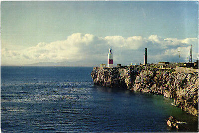 Europa Point, Gibraltar, Lighthouse, colour postcard, unposted