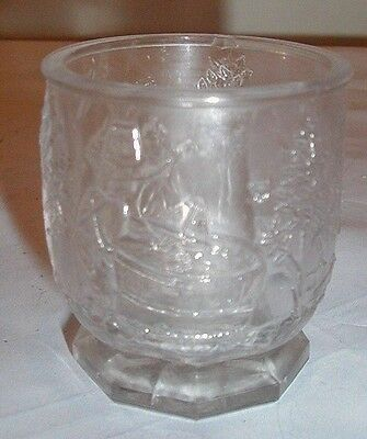 Nursery Rhyme child's toy sugar bowl eapg Early American Pattern Glass