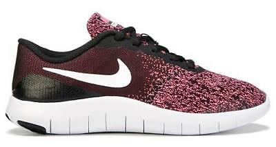 f53f25e82f24 Nike Flex Contact Pink+Black Kids Athletic Sneakers Shoes 917937 Youth NEW