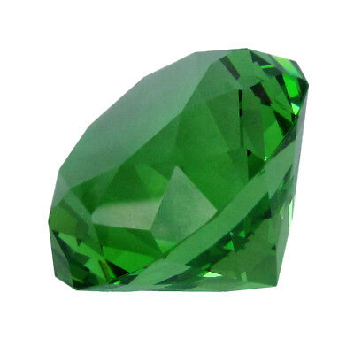 Big 100mm Emerald Green 100 mm Cut Glass Crystal Giant Diamond Jewel Paperweight
