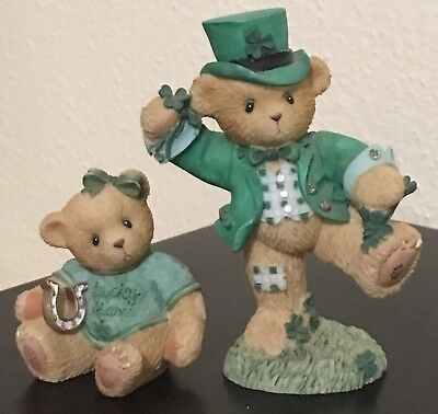 Lot of 2 St. Patrick's Day CHERISHED TEDDIES: PAT and LUCKY CHARM - EUC
