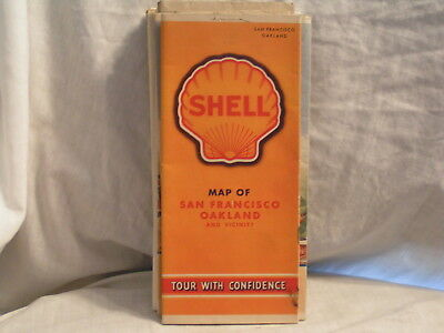1940 Shell Oil Co Road  Map For San Franciso Oakland And Vicinity